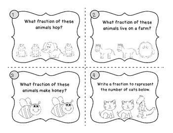 Fraction Action Scoot or Write the Room Freebie