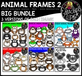 Animal Frames 2 Clip Art Big Bundle {Educlips Clipart}