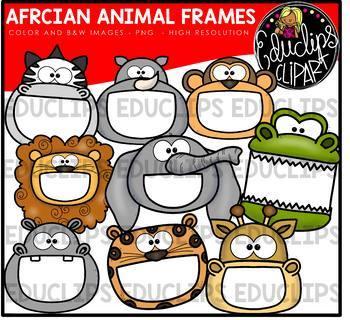 Animal Frames Clip Art Big Bundle {Educlips Clipart}