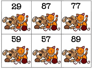 Animal Friends 2-Digit Addition without Regrouping Matching Cards