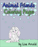Animal Friends Coloring Pages - Forest Theme