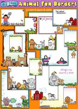 Animal Fun Borders Clip Art Download
