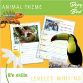 Leveled Writing Animal Theme