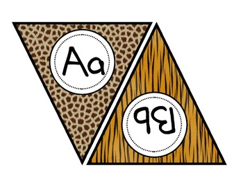 Animal Fur Alphabet Banner