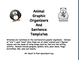 Animal Graphic Organizer and Sentence Templates