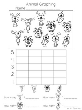 Animal Graphing - No Prep Printable Worksheets