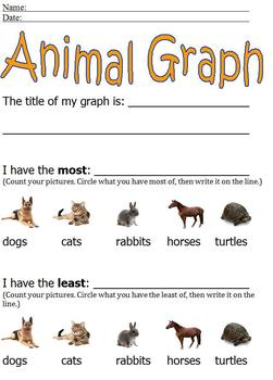 Animal Graphing With Pictures; Simple Cut & Paste; more/le