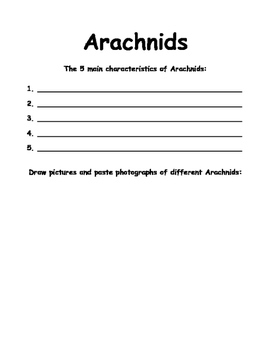 Animal Group Characteristic Booklet
