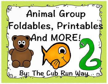 Animal Group Foldable and Printables