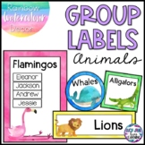 Reading Group Labels | Table Signs | Watercolor Animals