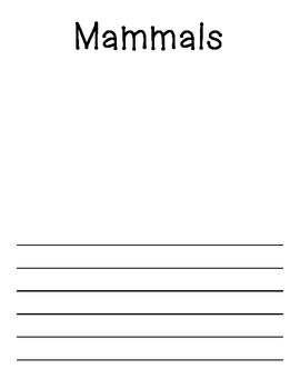 Animal Group Packet