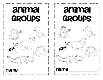 Animal Groups Animal Classification Emergent Reader