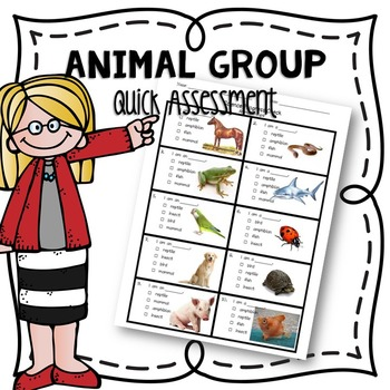 Animal Classification Assessment Tool