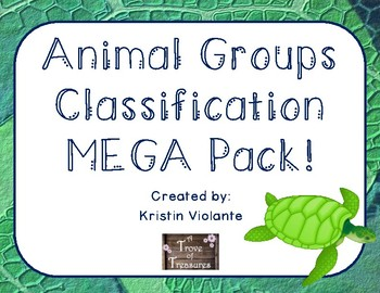 Animal Groups Classification MEGA Pack!