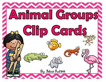 Animal Groups Clip Cards