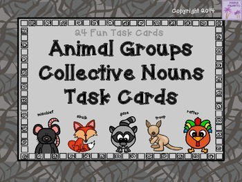 Animal Groups Collective Nouns Task Cards