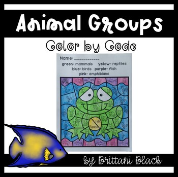 Animal Groups- Color by Code