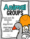 Animal Groups First Grade Journeys Print and Go Activities