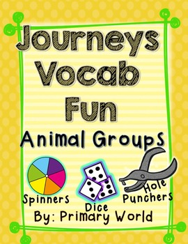 Animal Groups, Journeys First Grade Unit 3 Lesson 15 Vocabulary