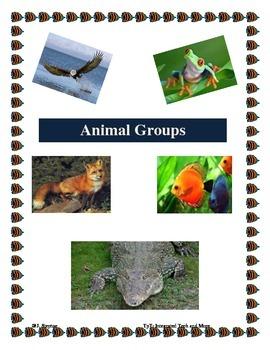 Animal Groups Foldable