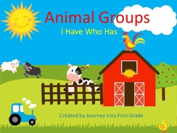 Animal Groups I Have Who Has (Journeys Common Core Reading