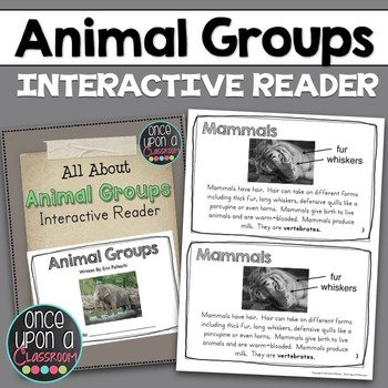 Animal Groups - Interactive Science Reader