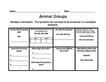 Animal Groups Journey Common Core