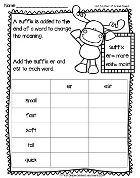 Animal Groups aligned with Journeys First Grade Unit 3 Lesson 15