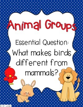 Animal Groups Journeys Lesson Plans and Supplemental Materials