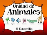 Animal Groups Literacy Unit in Spanish