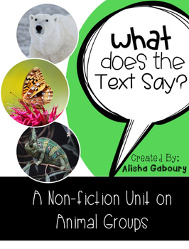 Animal Groups Non Fiction Text Packet [Free Sample]
