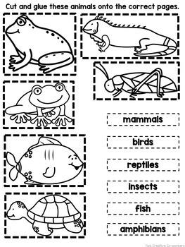 animal groups printable book sorting worksheets. Black Bedroom Furniture Sets. Home Design Ideas