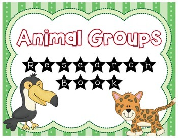 Animal Groups Research Book
