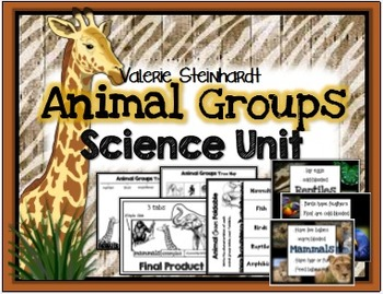 Animal Groups Science Unit