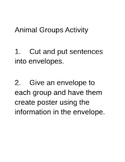 Animal Groups Sorting Activity