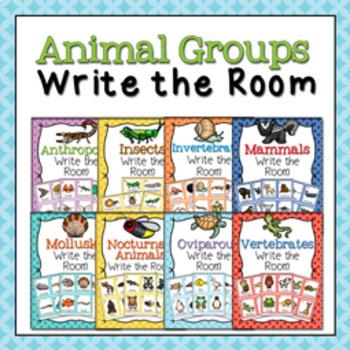 Animal Groups Write the Room Bundle