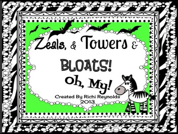 Animal Groups: Zeals & Towers & Bloats, Oh, My!
