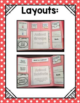 Animal Groups and Animal Habitats Lap Books *BUNDLE*