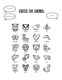 """Animal """"Guess Who?"""" Game for Young ESL Learners"""