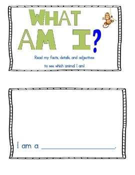 "Animal ""Guess Who"" Writing!"
