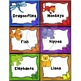 Animal Guided Reading Group Labels