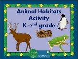 Animal Habitat Activity