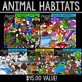 Animal Habitat Bundle {Creative Clips Digital Clipart}