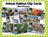 Animal Habitat Clip Cards: Real Photos