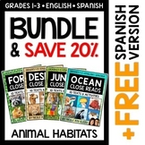 Close Reading Passages - Animal Habitats Bundle