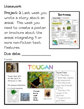 Animal, Habitat, Continents and Countries Homework Project