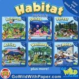 Animal Habitat Diorama Project BUNDLE | Animal Craft Activities
