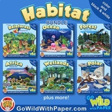 Animal Habitat Diorama Project BUNDLE | Animal Craft Activities