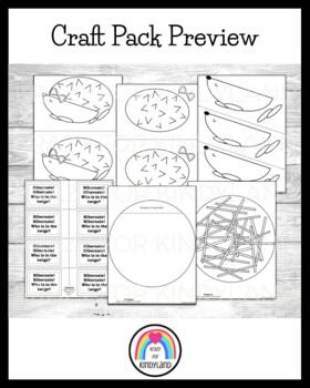 Animal Hibernation / Habitat Craft Pack: Bear, Badger, Hedgehog, Mouse