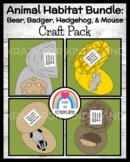 Winter Craft Activities with Animal Hibernation: Bear, Badger, Hedgehog, Mouse